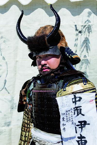 Itô Kazuhiko a acheté son armure à Kyôto. -Jérémie Souteyrat pour Zoom Japon-