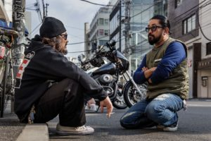 Tokyo, November 7 2015 - Photoshooting for Japanese Hot Bike Magazine in the Harajuku area.
