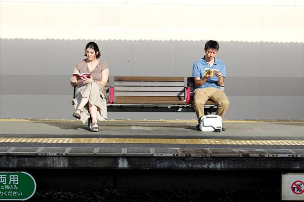 Isabelle Legrand-Nishikawa et son mari cultivent le même amour pour la littérature japonaise. -Isabelle Legrand-Nishikawa-