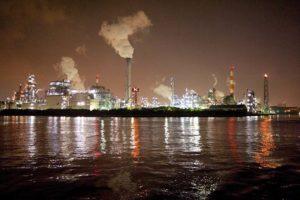 the Yokohama Factory Scenery Night Cruise Kawasaki industrial zone