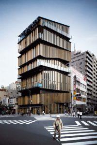 Tokyo, May 14 2012 - Asakusa Culture Tourist Information Center (Asakusa bunka kanko center) by Japanese architect Kengo Kuma.