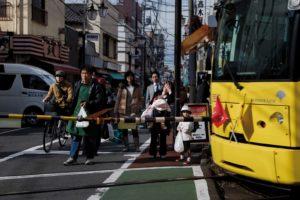 Tokyo, November 15 2012 - Koshinzuka Station?.