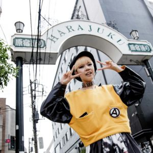 Tokyo, June 6 2013 - Japanese designer Chocomoo introducing her favorite shops in Harajuku -