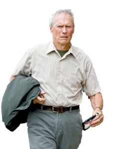 "CLINT EASTWOOD stars as Walt Kowalski in Warner Bros. Pictures' and Village Roadshow Pictures' drama ""Gran Torino,"" distributed by Warner Bros. Pictures. PHOTOGRAPHS TO BE USED SOLELY FOR ADVERTISING, PROMOTION, PUBLICITY OR REVIEWS OF THIS SPECIFIC MOTION PICTURE AND TO REMAIN THE PROPERTY OF THE STUDIO. NOT FOR SALE OR REDISTRIBUTION."