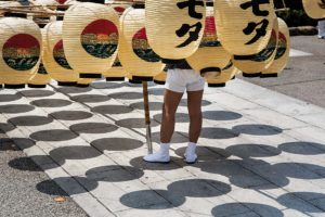 Tokyo, may 31 2014 - Asakusa as seen by Shinobu MACHIDA. Akita kanto matsuri performed near the Senso-ji.