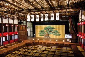 Kotohira, Februray 16 2014 - The Konpira Grand Theatre , also known as the Kanamaru-za is a restored Kabuki theatre. It was originally constructed in 1835 and is the oldest kabuki theatre in Japan.