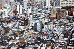 Tokyo, March 2012 - View over the eastern part of the Ebisu area.