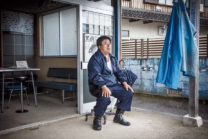 Obama, July 2nd 2012 - Manami Hato, fishing coordinator, waiting for clients at Tomari port, Obama city, 5km from Ohi NPP.