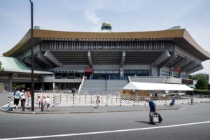Tokyo, July 2013 - The Nippon Budokan is an indoor arena, originnaly built for the judo competition in the 1964 Summer Olympics,