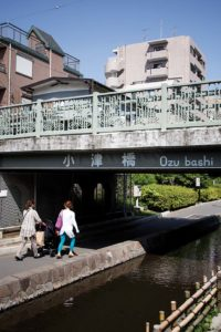 Tokyo, May 17 2013 - Small canal in Koto ward area.