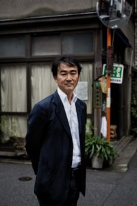 """Tokyo, September 25 2012 - Portrait of Japanese writer Jun Ikeido in the Jimbocho area. Mr Ikeido received the Naoki Prize in 2011 for his work """"Shitamachi rocket"""""""