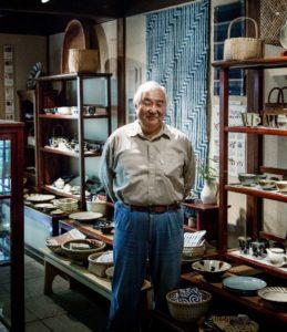 Kamakura, October 9 2012 - KUNO Keiichi, owner of Mingei shop Teshigoto in Kamakura.