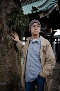 Kamakura, March 18 2013 - Portrait of Japanese novelist TAKAHASHI Genichiro at a temple near his house.