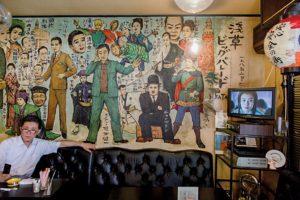 Tokyo, may 31 2014 - Asakusa as seen by Shinobu MACHIDA. Peter cafe and restaurant.