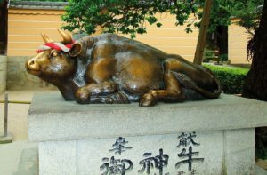 sanctuaire-dazaifu-boeuf-porte-bonheur-japon