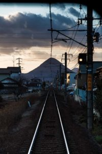Kagawa prefecture, Februray 15 2014 - On the Kotoden Retro train, a special historical train, Kotoden Kotohira line.