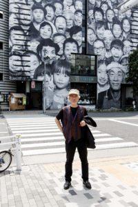 Tokyo, June 9 2013 - Portrait of Koichi Watari, co-founder of Watari art museum in Harajuku.