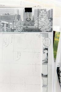 Tokyo, November 9 2014 - In the atelier of manga artist Jiro Taniguchi.