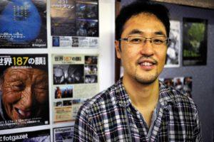 Journalist Takeharu WATAI at his Asia Press International office downtown Tokyo...