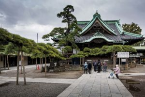 Tokyo, March 10 2015 - Shibamata, in the footsteps of Tora-san and Yoji Yamada. Taishakuten temple.