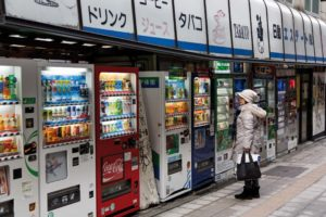 Tokyo, January 2013 - Vending machines on the street.