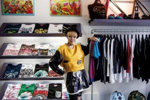 Tokyo, June 6 2013 - Japanese designer Chocomoo introducing her favorite shops in Harajuku - MNWKA