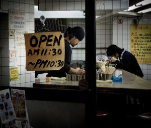 Tokyo, November 14 2012 - Ramen restaurant in the Yoyogi area.