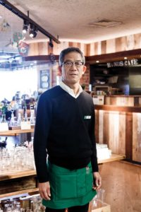 Tokyo, January 7 2014 - Portrait of the manager of Tokyu Hands store Shibuya.