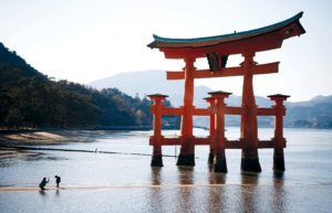 Miyajima, November 26 2011 - The floating torri gate.