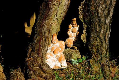Représentations d'Ebisu et de Daikoku, deux des sept divinités du bonheur.©Angeles Marin Cabello pour Zoom Japon