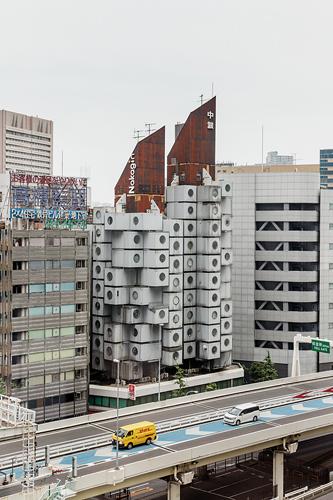 Impossible de ne pas remarquer cette structure originale au milieu des immeubles tokyoïtes. / Jérémie Souteyrat pour Zoom Japon