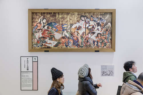 Les responsables du musée ont fourni un bel effort pour rendre accessible, au plus grand nombre, les explications sur les œuvres. / Jérémie Souteyrat pour Zoom Japon